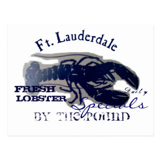 Ft. Lauderdale Fresh Lobster Postcard