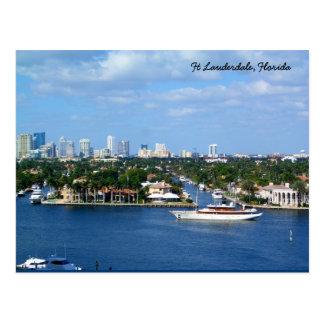 Ft Lauderdale Intracoastal Waterway & Skyline Postcard