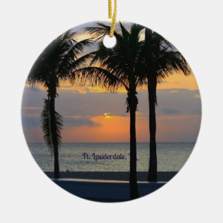 Ft. Lauderdale Sunrise Christmas Ornament