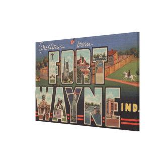 Ft. Wayne, Indiana - Large Letter Scenes 2 Canvas Print