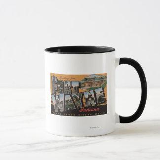 Ft. Wayne, Indiana - Large Letter Scenes Mug
