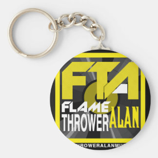 FTA Flame Thrower Alan Music Apparel & Merchandise Basic Round Button Key Ring
