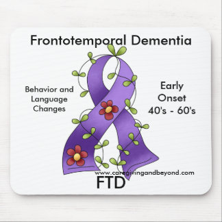 FTD, Frontotemporal Dementia Purple Ribbon Mousepa Mouse Pad