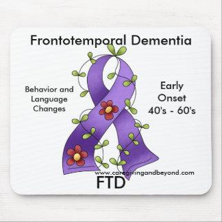 FTD Frontotemporal Dementia Purple Ribbon Mousepa Mouse Mats