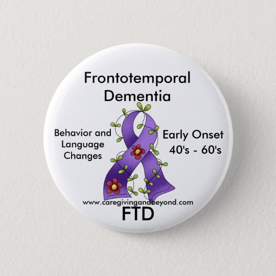 FTD, Frontotemporal Dementia Purple Ribbon Pin