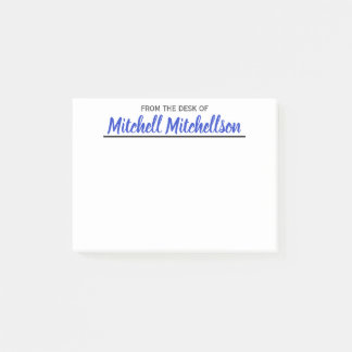 FTDO Beloved Blue Personalised Post-it Notes