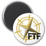 FTF with compass 6 Cm Round Magnet