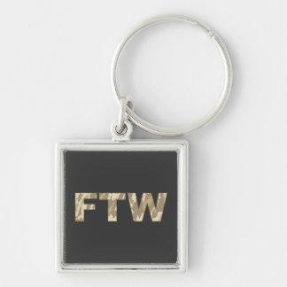 FTW in Desert Camo Keychain