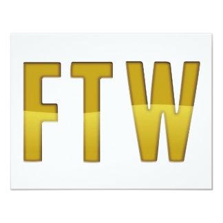"FTW 4.25"" X 5.5"" INVITATION CARD"