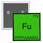 Fu - FFFFUUUUUUU Funny Element Meme Chemistry Tee 15 Cm Square Badge