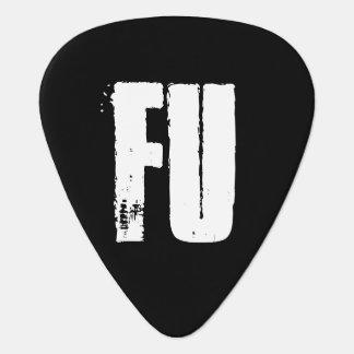 FU GUITAR PICKS - BLACK & WHITE MUSICIANS SUPPLY GUITAR PICK
