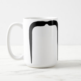 Fu Manchu Mustache in Black Coffee Mug