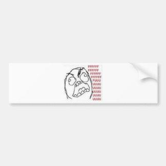 FU Rage Comic Bumper Sticker