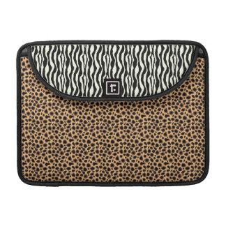 Fuax Cheetah and Zebra Live in Harmony MacBook Pro Sleeves