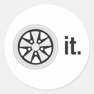 fuch wheel it sticker