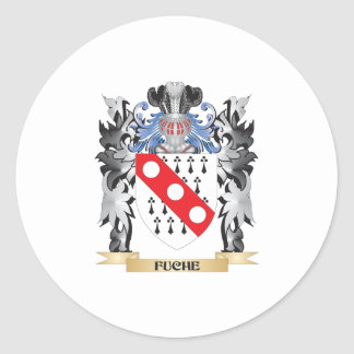Fuche Coat of Arms - Family Crest Round Sticker
