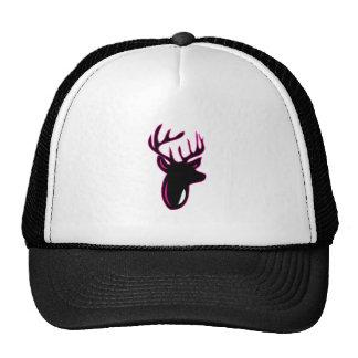 Fuchia Buck Mesh Hats