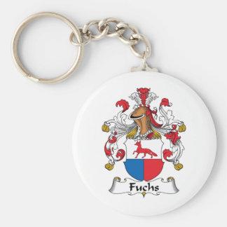 Fuchs Family Crest Basic Round Button Key Ring