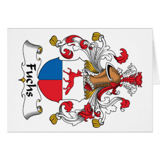 Fuchs Family Crest Greeting Card