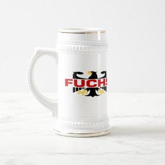 Fuchs Surname 18 Oz Beer Stein