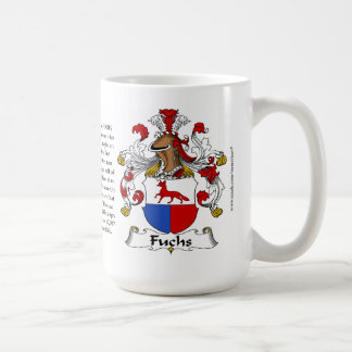 Fuchs, the Origin, the Meaning and the Crest Basic White Mug