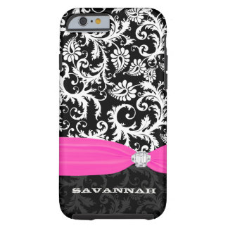 Fuchsi White Plus Any Color Damask Printed Crystal Tough iPhone 6 Case