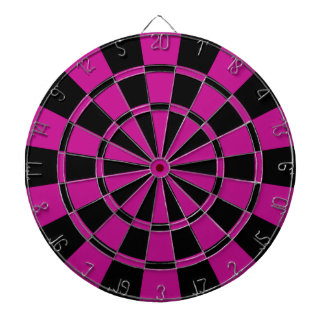 Fuchsia And Black Dartboard