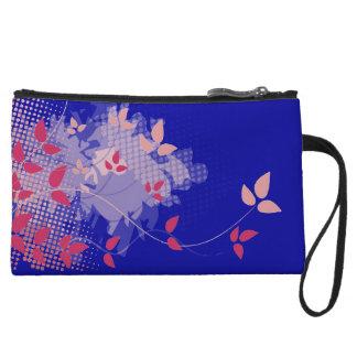 Fuchsia and navy blue wedding wristlet purses