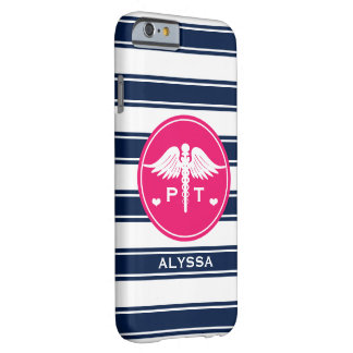 FUCHSIA AND NAVY STRIPE PHYSICAL THERAPY PT BARELY THERE iPhone 6 CASE