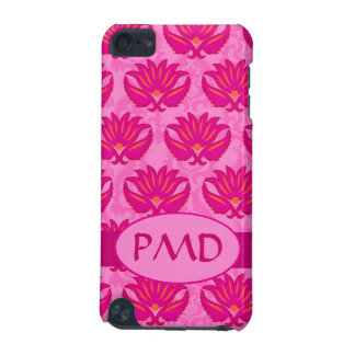 Fuchsia and Pink Art Nouveau Damask Monogram iPod Touch (5th Generation) Case