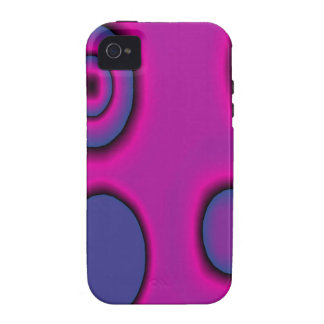 Fuchsia and Violet circles Case-Mate iPhone 4 Covers