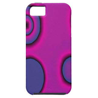 Fuchsia and Violet circles Tough iPhone 5 Case