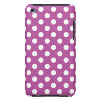 Fuchsia and White Polka Dot iPod Case-Mate Case