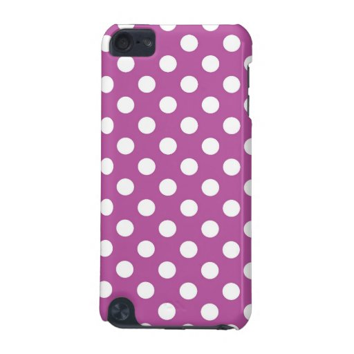 Fuchsia and White Polka Dot iPod Touch (5th Generation) Case