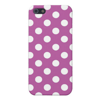 Fuchsia and White Polka Dot Cover For iPhone 5/5S