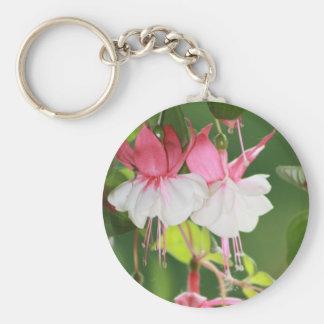 Fuchsia Basic Round Button Key Ring