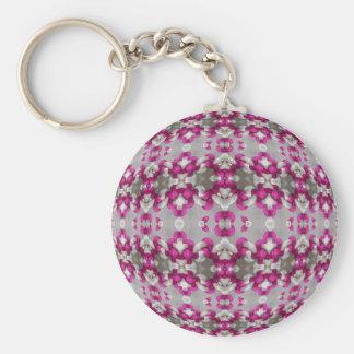 Fuchsia Bindings Basic Round Button Key Ring