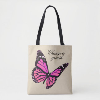 Fuchsia Butterfly Tote