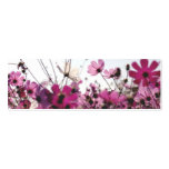 Fuchsia Chamomile Bookmark (Customisable) Pack Of Skinny Business Cards