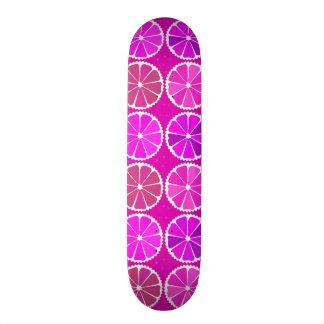 Fuchsia citrus pattern skate board decks