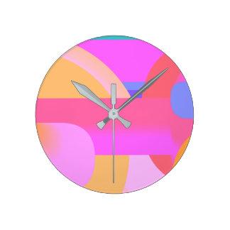 Fuchsia-clipse Clock