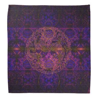 Fuchsia Dragon Tapestry Abstract Art Bandana