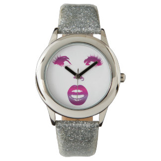 Fuchsia Face Watch