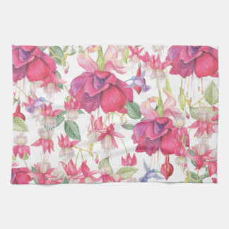Fuchsia Fantasy Tea Towel