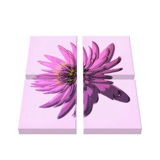 Fuchsia Floral Illustration Wrapped Canvas Art