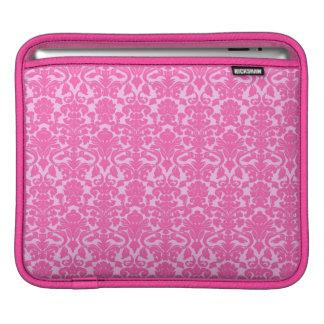 Fuchsia Floral Lace Damask Pattern iPad Sleeve