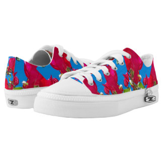 Fuchsia Flower Power sneakers