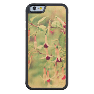 Fuchsia Flowers Carved® Maple iPhone 6 Bumper Case