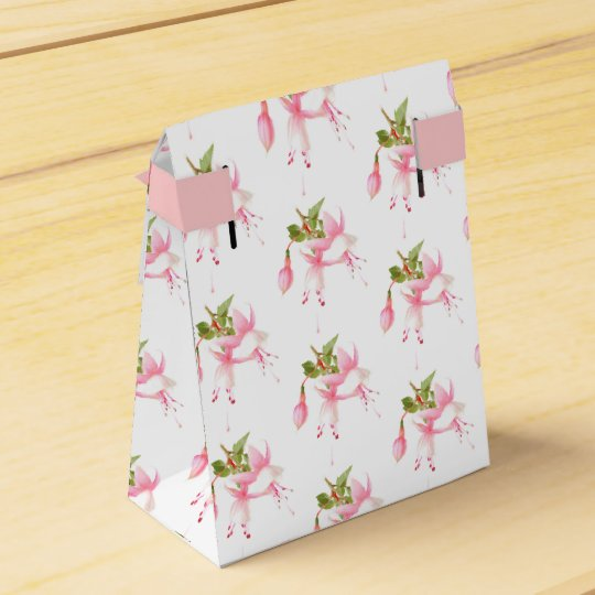 Fuchsia flowers favour box