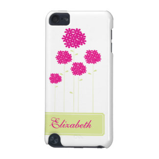 fuchsia Flowers IPod Touch Case Personalized